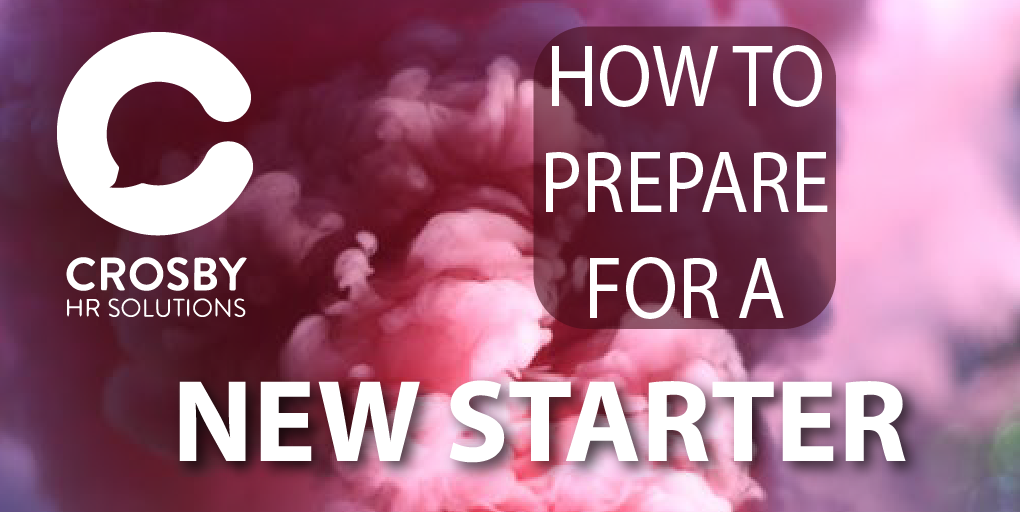 How to prepare for a new starter