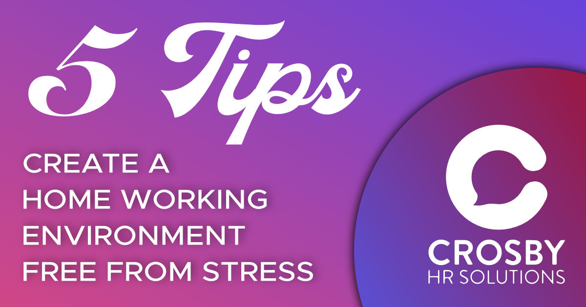 How to create a home working environment that's free from stress